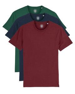 "3er Pack Herren T-Shirt aus Bio-Baumwolle ""Charlie"", Farbig - University of Soul"