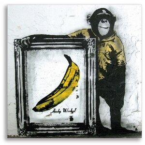 Wandbild Banksy Banane Bilder Wohnzimmer - Kunstbruder