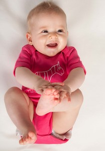 Kipepeo Baby- Strampler 'Zebra' - Kipepeo-Clothing