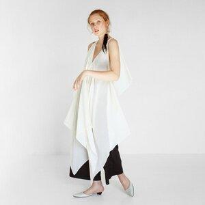 Drapiertes transparentes Strandkleid aus Bio-Baumwolle - Natascha von Hirschhausen