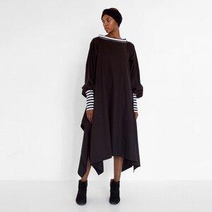 Drapiertes Kleid mit gestreiften Details aus Bio-Baumwolle - Natascha von Hirschhausen