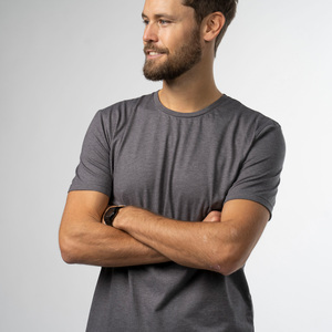 T-Shirt Zuckergrey 2.0 - Biobaumwolle + rec. Poly. grau - Vresh Clothing