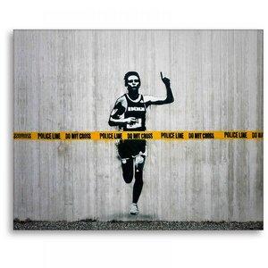 Wandbild Banksy Do Not Cross Bilder Wohnzimmer - Kunstbruder
