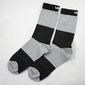 Socks blk/gry Blocks - Vresh Clothing