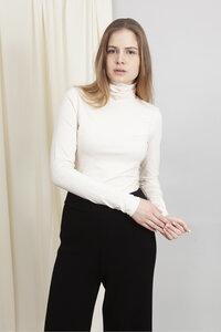 LILY - Rollkragenpullover Damen Longsleeve aus Bio-Baumwolle - Woman of Vegan