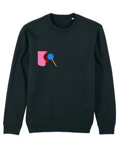"""Unisex Sweatshirt aus Bio-Baumwolle """"Licked"""" Stickerei"""" - Bretter&Stoff"""