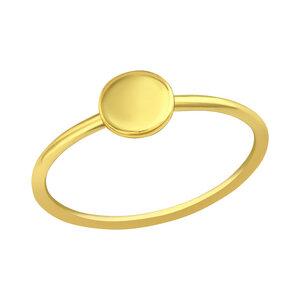 Feiner Ring mit Scheibe aus 925er Sterling Silber 14K vergoldet - LUXAA