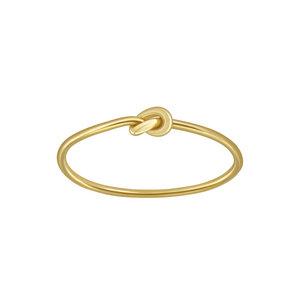 Feiner Ring mit Knoten aus 925er Sterling Silber - Gold - LUXAA®