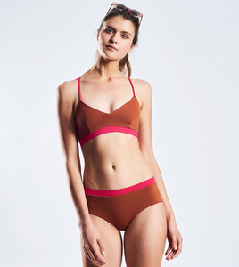 Sport Top Bikinioberteil Shades of warm Roots, wendbar - MYMARINI