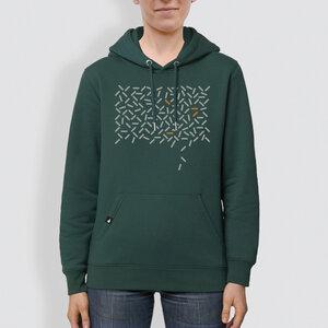 "Unisex Hoodie, ""Bewegung"", Glazed Green - little kiwi"