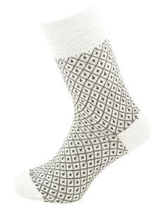 Herren Jacquard Socken reine Bio-Schurwolle - hirsch natur