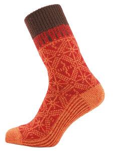 Herren Umschlag-Socken reine Bio-Schurwolle - hirsch natur