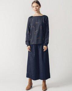 Damen Bluse LAPIA dark blue - SKFK