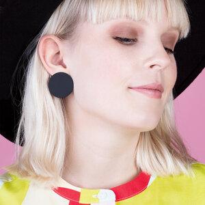Runde Statement Ohrringe aus Titanzink | 30mm - ALEXASCHA