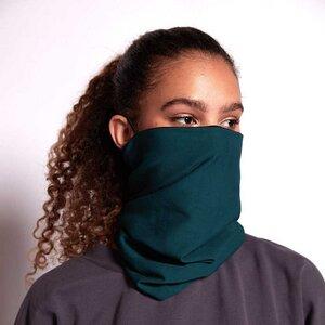 Maskenschal in Grün/Schwarz doppellagig aus Bio-Baumwoll Jersey - WiDDA berlin