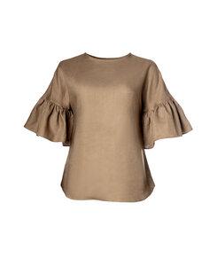 Liia Bluse Light Sand - Mahla Clothing