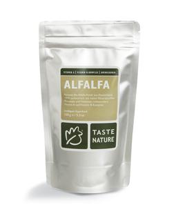 Alfalfa Pulver, 150g, Bio. - Taste Nature