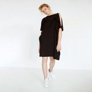 Drapiertes oversized Kleid aus Bio-Baumwolle - Natascha von Hirschhausen