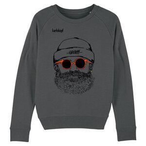 Sweatshirt - Bedruckter Damen Sweater aus Bio-Baumwolle HIPSTER - karlskopf