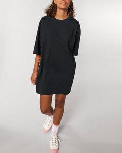 Weites Damen T-Shirt Kleid aus leichter Bio Baumwolle - YTWOO