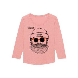 Bedrucktes Damen T-Shirt -langarm- aus Bio-Baumwolle HIPSTER - karlskopf