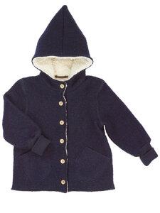 Kinder Walk-Jacke mit Teddy-Futter Bio-Wolle - Halfen