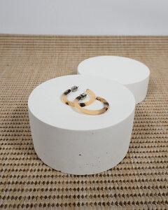 Runde Ohrringe MINI HOOPS aus Acetat - JAN N JUNE