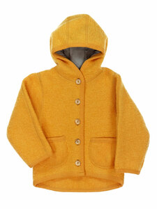 Baby und Kinder Walk-Jacke mit Kapuze Bio-Wolle/Bio-Baumwolle - Halfen