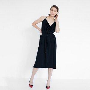 drapiertes Midi-Kleid aus Bio-Baumwolle - Natascha von Hirschhausen