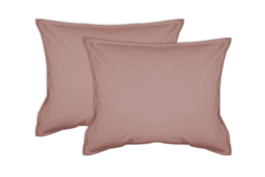 2er Pack Kissenbezug in Stone-Washed Optik 100% Bio-Baumwolle Uni Made in Green 45x45cm 50x50cm - jilda-tex