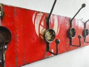 Garderobe -5 Haken- aus recycelten Ölfässern - Post-Oil Upcycling Industrial Vintage - Moogoo Creative Africa