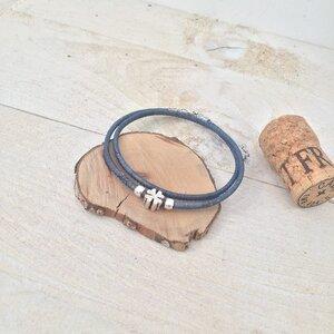 Kork Fußkette mit silber Charms - Living in Kork