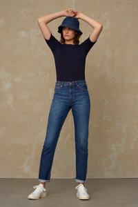 Damen Ripp-Strick Shirt - Kuroda - aus Bio-Baumwolle  - Kings Of Indigo
