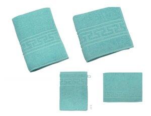 Großes Frottier Set mit Handtuch Duschtuch 100 % Bio Baumwolle tolle Farben - Wörner