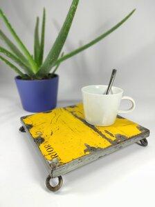 """Untersetzer """"Post-Oil"""" aus recycelten Ölfässern - versch. Farben - Industrial Upcycling Vintage - Moogoo Creative Africa"""