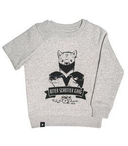 Otter Schotter Gang - Fair Wear Kinder Sweater - grau - päfjes