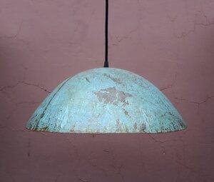 Deckenlampe Hängeleuchte aus recycelten Ölfässern 43cm Durchmesser Industrial Design Upcycling - Moogoo Creative Africa