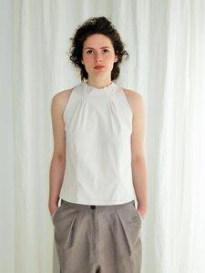 Bluse mit amerikanischer Schulter und Relief, Maßanfertigung von käufer (d) sein - käufer (d) sein ALL UPCYCLED