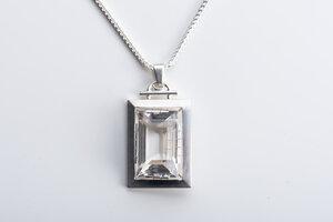 Vintage Unikat: Kette mit großem Bergkristall - MishMish by WearPositive
