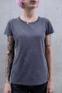 2 Basic Frauen T-Shirts aus Biobaumwolle Hergestellt in Portugal dunkelgrau - ilovemixtapes