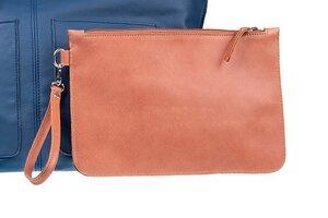 Tag und Abend Leder Clutch Tasche LIZ mit Griff 100% Made in Italy - Ritagli di G