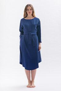 Lockeres Kleid *DIA-NAA* aus 100% Tencel in blau petrolgrün oder bordeaux - Studio Hertzberg