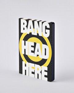 Bang head here - Premium Notizbuch mit Ledereinband - Nuuna
