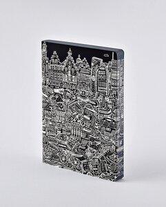 Frankfurt - Premium Notizbuch mit Ledereinband - Nuuna