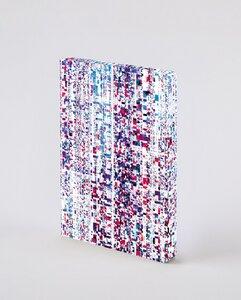 Matrix - Premium Notizbuch mit Einband aus Jeans Label Material, vegan - Nuuna