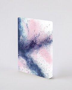 Splash - Premium Notizbuch mit Einband aus Jeans Label Material, vegan - Nuuna