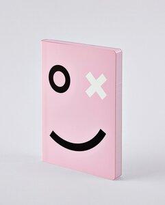 OX - Premium Notizbuch mit Ledereinband in Rosa - Nuuna