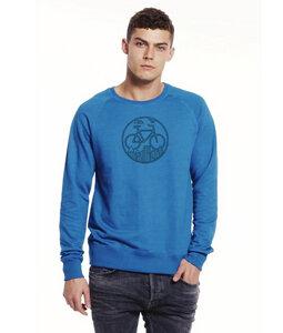"""Fahrrad Sweatshirt """"Unter den Wolken"""" in Blau & Schwarz - Picopoc"""