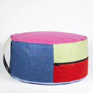 Sitzkissen aus reiner Schurwolle mit Dinkelspelzfüllung - nahtur-design