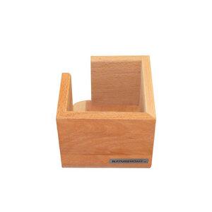Zettelbox Zettelkasten Vollholz 11x11 cm CLASSIC für Zettel 8,5x8,5 cm - NATUREHOME
